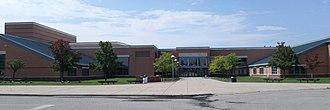 Okemos High School - The school in September 2015