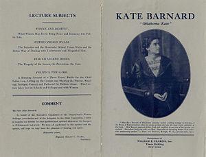 "Kate Barnard - Kate Barnard, ""Oklahoma Kate"""