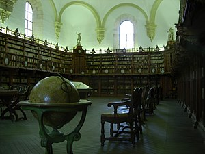 The old library of the University of Salamanca