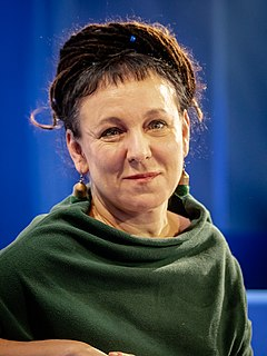 Olga Tokarczuk under bokmässan i Frankfurt 2019.