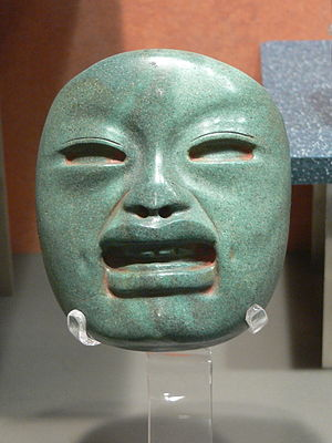 Olmec alternative origin speculations - Image: Olmeken Maske 1
