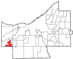 Location within Cuyahoga County