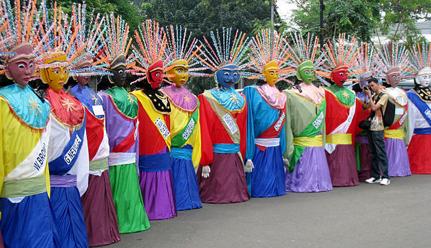 Ondel-Ondel, often used as a symbol of Betawi culture