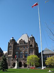 The Ontario Legislature Building at Queen's Park.