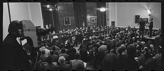 Opening day of the Nixon impeachment inquiry.