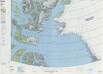 Alanngorsuaq Fjord - Image: Operational Navigation Chart B 8, 3rd edition