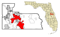 Orange County Florida Incorporated and Unincorporated areas Orlando Highlighted.svg