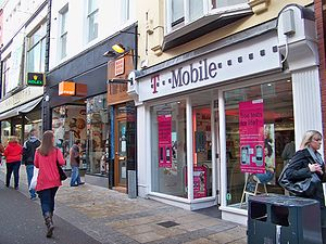 Orange (UK) - Orange and T-Mobile shops in Leeds in 2009. The two have since been re-branded as EE stores.