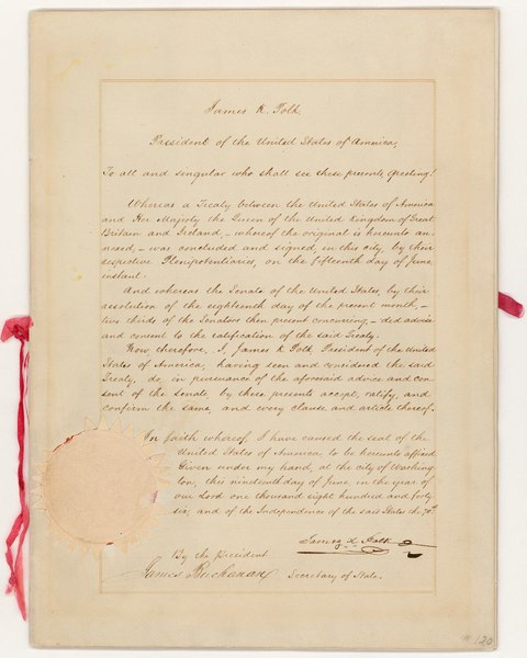 File:Oregon Treaty - NARA - 299808.pdf