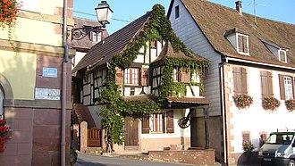 Orschwiller - Half-timbered house in Orschwiller