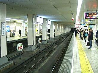 Higashi-Umeda Station - Image: Osaka subway T20 Higashi umeda station platform