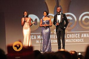 Osas Ighodaro - Osas Ighodaro, Vimbai Mutinhiri and IK Osakioduwa hosting the 2014 Africa Magic Viewers Choice Awards