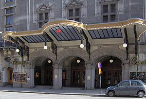 Oscarsteatern - Oscarsteatern in Stockholm; the main entrance.
