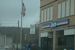 The Masonic lodge and post office in Osceola Mills