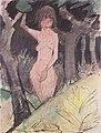 Otto Mueller - Zwischen Bäumen stehendes Mädchen - ca1925.jpeg