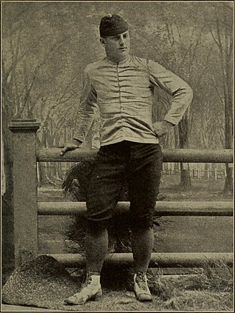 Frederic Remington - Remington in the football uniform of the day, canvas jacket and flannel trousers