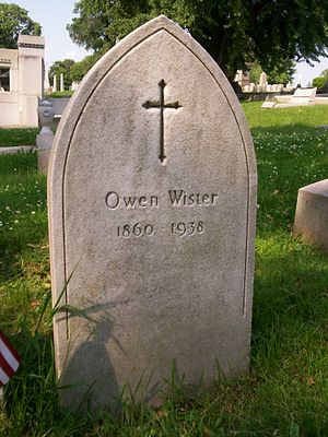 Owen Wister - Grave of Owen Wister, Laurel Hill Cemetery