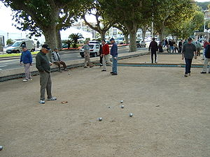 Pétanque - Pétanque players in Cannes