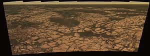 Erebus (crater) - Image: PIA03621 Opportunity Rover Olympia Panorama