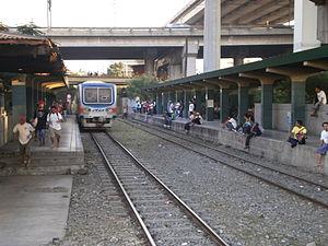 EDSA railway station - Platform area of EDSA PNR station