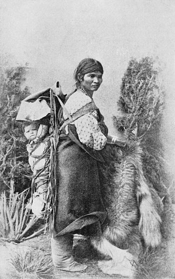PSM V39 D554 Navajo woman carrying her baby.jpg