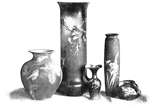 PSM V40 D316 Group of rookwood vases.jpg