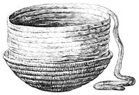 Намотка глиняного жгута и сглаживание поверхности кувшина