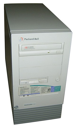 Packard Bell - A Packard Bell Multimedia D160 manufactured in the mid-1990s