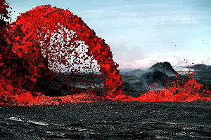 Pahoeoe lava fountain