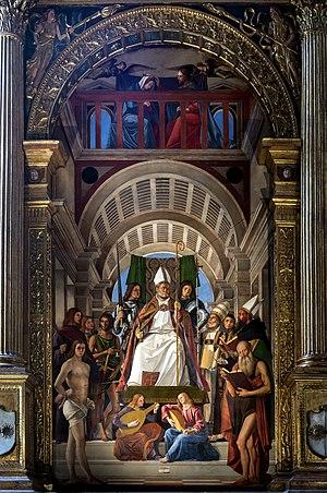 Marco Basaiti - Altarpiece of Saint Ambrose, Alvise Vivarini and Marco Basaiti, 1503