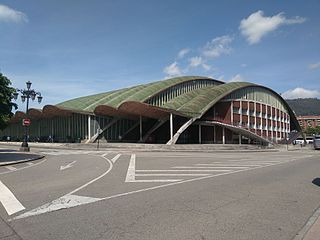 An indoor sporting arena located in Spain