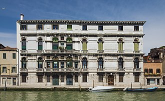 Palazzo belonging to Tommaso Querini at 968 Cannaregio Venice that served as the French Embassy during Rousseau's period as Secretary to the Ambassador Palazzo Surian Bellotto (Venice).jpg