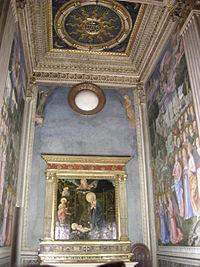 Palazzo medici riccardi, cappella dei magi, scarsella.JPG
