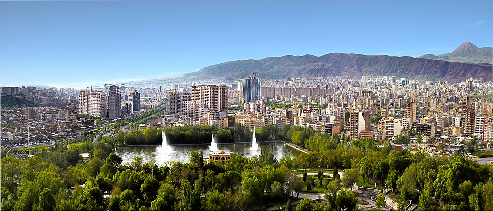 Panoramic view of Tabriz from El Goli, August 2010