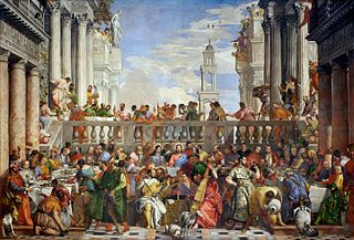 <i>The Wedding at Cana</i> painting by Paolo Veronese (1563, Louvre)