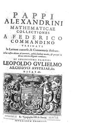 Pappus of Alexandria - Mathematicae collectiones, 1660