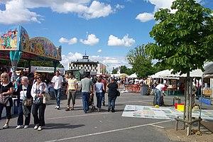Festival Ludique International de Parthenay - The Place du Drapeau during FLIP 2008.