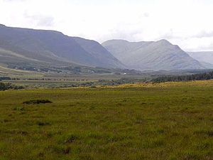 Partry Mountains - Partry Mountains Looking down the Derrycraff valley