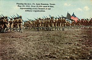 Passing review, Fort Sam Houston, Texas.jpg