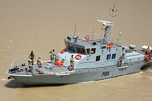 Umm Qasr Port - New Iraqi Navy patrol boat in Port of Umm Qasr