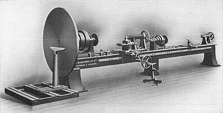 Patternmaker's double lathe (Carpentry and Joinery, 1925) Patternmaker's double lathe (Carpentry and Joinery, 1925).jpg