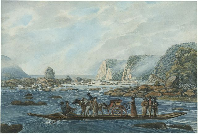 П. Свиньин. «Переправа через реку Саскуэханна» (ок. 1812, музей Метрополитен).