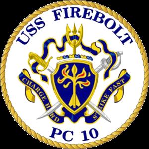 USS Firebolt - Image: Pc 10coa