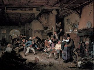Peasants Dancing in a Tavern