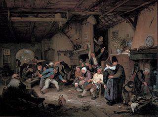 Peasants Dancing in a Tavern