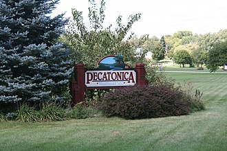 Pecatonica, Illinois - Sign leading into the south side of Pecatonica