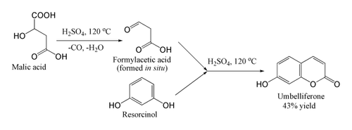 The Pechmann condensation as applied to umbelliferone