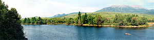 Penobscot River - Panorama of the Penobscot River in Millinocket, Maine