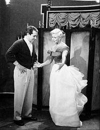 como and ginger rogers at the shows rehearsal 1957 - Perry Como Christmas Show