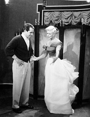 Perry Como television and radio shows - Como and Ginger Rogers at the show's rehearsal, 1957.